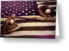 American Baseball Grunge Greeting Card