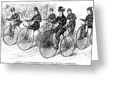 American Bicyclists, 1879 Greeting Card