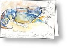 American Blue Lobster Greeting Card