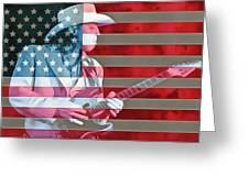 American Bluesman Stevie Ray Vaughan Greeting Card
