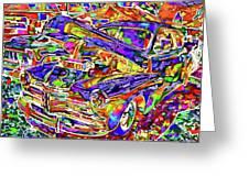 American Classic Car 4 Greeting Card