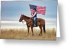 American Cowgirl Greeting Card