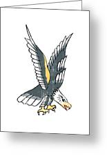 American Eagle Tattoo Greeting Card
