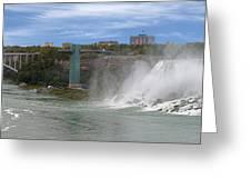 American Falls And Rainbow Bridge Greeting Card