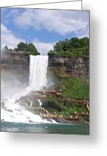 American Falls At Niagra Greeting Card