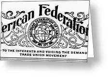 American Federationist Greeting Card