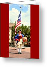 American Fife And Drum Corp Flag Carrier Greeting Card