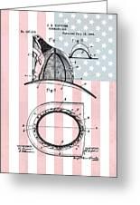 American Firefighter's Helmet Greeting Card