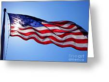 American Flag Fort Sumter Greeting Card