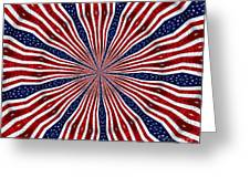 American Flag Kaleidoscope Abstract 6 Greeting Card