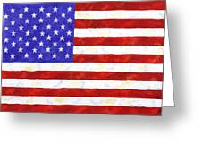 American Flag Greeting Card by Linda Mears