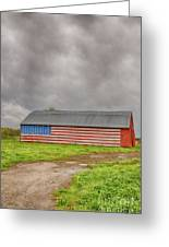 American Flag Proudly Displayed Greeting Card