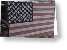 American Flag Shop Greeting Card