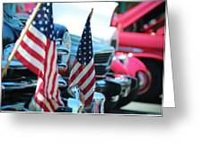 American Flags And Chrome At A Car Show Photograph By Derrick Neill - Car show flags