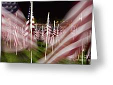 American Flags Tribute To 9-11 Greeting Card