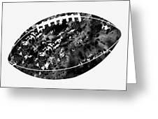American Football-black Greeting Card