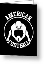 American Football Player With Ball And Helmet Greeting Card