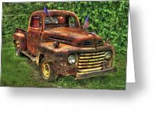 American Ford 1950 F-1 Ford Pickup Truck Art Greeting Card