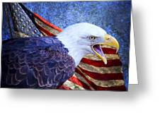 American Freedom  Greeting Card by Nicole Markmann Nelson