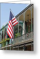 American French Quarter Greeting Card