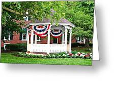 American Gazebo Greeting Card