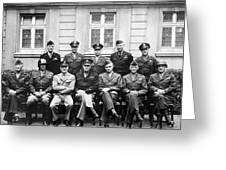 American Generals Wwii  Greeting Card