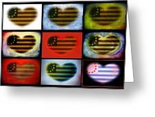 American Hearts Greeting Card