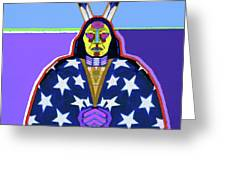 American Indian By Nixo Greeting Card
