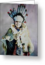 American Indian Girl Greeting Card