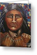American Indian Portrait Greeting Card