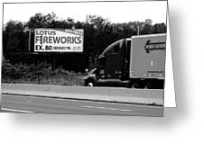 American Interstate - Pennsylvania I-80 Bw 2 Greeting Card