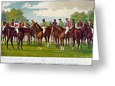 American Jockeys, 1889 Greeting Card
