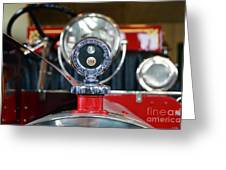 American Lafrance Vintage Fire Truck Gas Cap Greeting Card