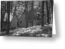 American Little House In The Woods Greeting Card
