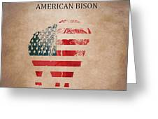 American Mammal The Bison Greeting Card
