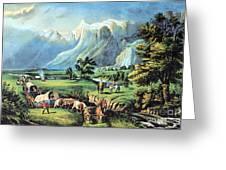 American Manifest Destiny, 19th Century Greeting Card