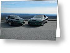 American Muscle Cars Greeting Card