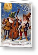 American New Years Card Greeting Card