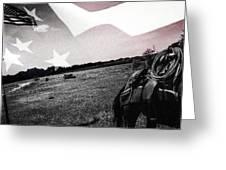 American Patriot -  Cowboy -girl Greeting Card
