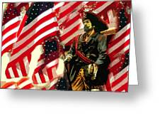 American Pirate Greeting Card