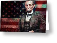 American President Abraham Lincoln 01 Greeting Card