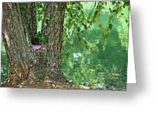 American Pride By The Pond Greeting Card
