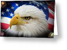 American Pride Greeting Card by Shane Bechler