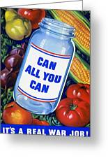 American Propaganda Poster Promoting Canned Food Greeting Card