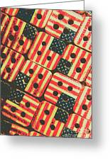 American Quilting Background Greeting Card