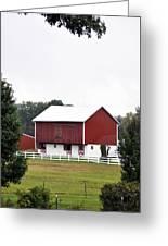 American Red Barn II Indiana Greeting Card
