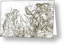 American Revolution Battle Sketch Greeting Card