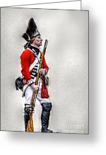 American Revolution British Soldier  Greeting Card by Randy Steele
