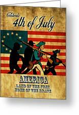 American Revolution Soldier Vintage Greeting Card by Aloysius Patrimonio