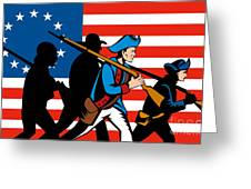 American Revolutionary Soldier Marching Greeting Card